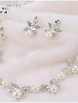 cheap -Women's Jewelry Set - Pearl Drop, Butterfly, Clover Simple, Fashion Include Drop Earrings / Choker Necklace Silver For Wedding / Party
