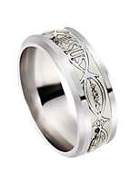 cheap -Men's Fish Band Ring - 1 Circle Classic / Fashion / European Silver Ring For Birthday / Evening Party