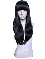 cheap -Wig Accessories Wavy Layered Haircut Anime Adjustable Heat Resistant Natural Hairline Synthetic Black Women's Capless Celebrity Wig
