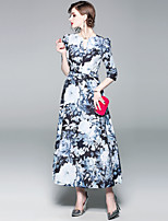 cheap -SHIHUATANG Women's Street chic Swing Dress - Floral Print