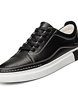 cheap -Men's Shoes PU(Polyurethane) Spring / Fall Light Soles Sneakers White / Black