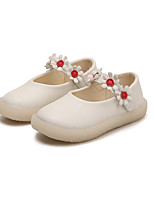 cheap -Girls' Shoes PU Spring & Summer Ballerina Flats Flower for Birthday Party & Evening White Pink