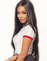 cheap -Remy Human Hair Wig Brazilian Hair Straight Layered Haircut 150% Density With Baby Hair Natural Hairline Black Short Long Mid Length