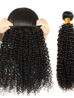 cheap -Peruvian Hair / Kinky Curly Curly Gifts / Natural Color Hair Weaves / Human Hair Extensions Human Hair Weaves Soft / Best Quality / New