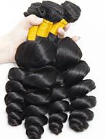 Недорогие -6 Связок Индийские волосы Волнистый Натуральные волосы Человека ткет Волосы / Накладки из натуральных волос 8-28 дюймовый Ткет человеческих волос Без шапочки-основы