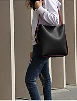 Недорогие -Жен. Мешки PU Сумка-шоппер Молнии для на открытом воздухе Черный