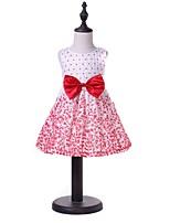 cheap -Kids Girls' Floral / Geometric Sleeveless Dress