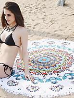 abordables -Qualité supérieure Drap de plage, Géométrique / Multicolore Polyester / Coton 1 pcs