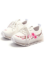 cheap -Girls' Shoes Canvas Spring & Summer Comfort Sneakers Lace-up for White / Black / Pink