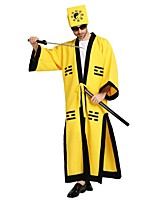 cheap -Cosplay Outfits Unisex Halloween / Carnival / Day of the Dead Festival / Holiday Halloween Costumes Yellow Solid Colored / Halloween