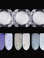 abordables -3pcs Poudre de paillettes Effet miroir Nail Glitter Brillant Mariage Soirée / Fête Nail Art Design
