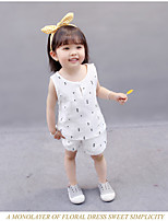 cheap -Kids Unisex Solid Colored Sleeveless Clothing Set