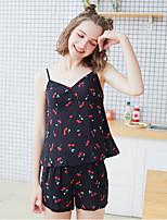 abordables -V Profond Bustiers Correspondants Pyjamas Femme Géométrique
