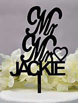 cheap -Cake Topper Classic Theme / Wedding New Acryic / Polyester Wedding / Anniversary with Acrylic 1pcs OPP