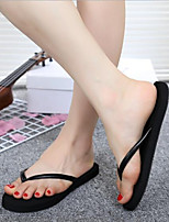 cheap -Women's Shoes EVA Spring Summer Comfort Slippers & Flip-Flops Flat Heel for Black Beige Brown