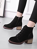 cheap -Women's Shoes Cashmere Winter Comfort Boots Chunky Heel for Casual Black Brown