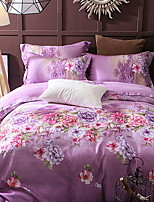 cheap -Duvet Cover Sets Floral / Geometric Polyster Reactive Print 4 Piece