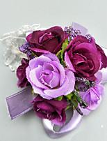abordables -Fleurs de mariage Boutonnières / Petit bouquet de fleurs au poignet Mariage / Soirée Polyester 3.94 pouce