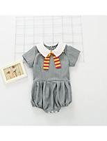 Недорогие -малыш Девочки Однотонный Короткие рукава 1 предмет