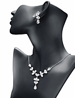 cheap -Women's Cubic Zirconia Jewelry Set - Drop Sweet, Fashion Include Drop Earrings / Pendant Necklace White For Wedding / Engagement