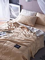 abordables -Confortable 1 Couvre-lit, Sergé Imprimé Couleur Pleine Printemps Eté
