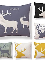 cheap -6 pcs Textile / Cotton / Linen Pillow case, Art Deco / Printing / Animal Simple / Square Shaped