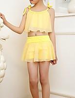 cheap -Kids Girls' Solid Colored / Print Sleeveless Swimwear