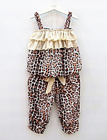 cheap -Kids Toddler Girls' Leopard Sleeveless Clothing Set