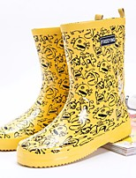 cheap -Women's Shoes Rubber Spring Rain Boots Boots Flat Heel for White / Yellow / Fuchsia