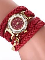 economico -Per donna Orologio braccialetto Cinese Orologio casual / imitazione diamante PU Banda Stile Boho / Di tendenza Nero / Bianco / Blu