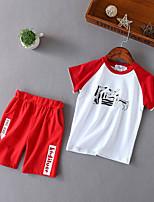cheap -Kids Unisex Color Block Short Sleeve Clothing Set