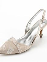 preiswerte -Damen Schuhe Spitze Sommer Knöchelriemen / Pumps / D'Orsay und Zweiteiler Hochzeit Schuhe Konischer Absatz Spitze Zehe Strass / Glitter