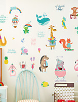 cheap -Decorative Wall Stickers - Animal Wall Stickers Animals Living Room Bedroom Bathroom Kitchen Dining Room Study Room / Office