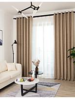 baratos -Cortinas cortinas Sala de Estar Riscas Chenile Fios Tingidos / Sala de Estar / Cortinas cortinas