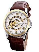 economico -Per uomo Orologio elegante Giapponese Cronografo Vera pelle Banda Creativo / Di tendenza Marrone