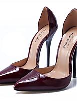 abordables -Femme Chaussures Polyuréthane Printemps été Escarpin Basique Chaussures à Talons Talon Aiguille Bout pointu Rouge / Vin / Amande