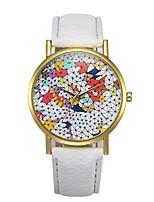 cheap -Men's Quartz Dress Watch Chinese Chronograph PU Band Casual Black / White