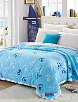 cheap -Comfortable - 1pc Bedspread Summer Cotton Solid Colored / Print / Cartoon