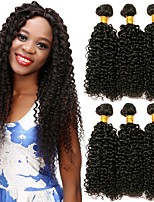 cheap -Peruvian Hair Curly Human Hair Weaves 6 Hot Sale Extention Human Hair Extensions All Christmas Gifts Christmas Wedding Party Special