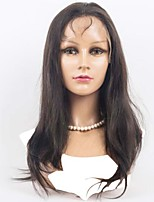 cheap -Human Hair Lace Front Wig Wig Peruvian Hair Straight Density Natural Natural Human Hair Lace Wig