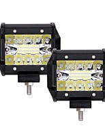 cheap -2pcs Car Light Bulbs 60W Integrated LED 6000lm 20 LED Exterior Lights For universal 2018
