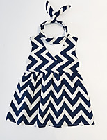 cheap -Toddler Girls' Blue & White Striped Sleeveless Dress