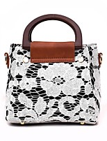 cheap -Women's Bags PU Tote Lace / Zipper for Event / Party White / Black