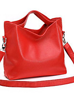 cheap -Women's Bags PU / Terylene Tote Zipper for Shopping / Office & Career Black / Red / Brown