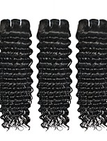 cheap -Malaysian Hair Curly Natural Color Hair Weaves / Human Hair Extensions Gift Bag 8-28 inch Human Hair Weaves Capless Best Quality / Hot Sale / For Black Women Natural Black Human Hair Extensions