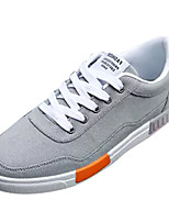 cheap -Men's Shoes Canvas Spring & Fall Comfort Sneakers Gray / Black / Red / Black / Blue