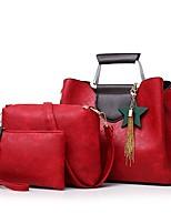 cheap -Women's Bags PU Bag Set 3 Pcs Purse Set Zipper for Formal Blushing Pink / Gray / Brown