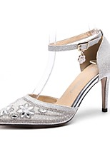 cheap -Women's Shoes Paillette Fall / Spring & Summer Comfort Heels Stiletto Heel Pointed Toe Sequin / Buckle Silver / Party & Evening