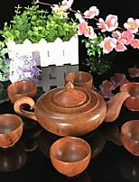 cheap -7 pcs wood teapot set heatproof creative ,  19*12*9;5.8*5.8*3.6cm