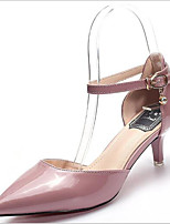 cheap -Women's Shoes Patent Leather Summer Comfort Heels Stiletto Heel Pointed Toe Purple / Pink / Almond